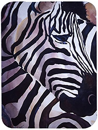 Carolines Treasures JMK1198LCB Zebra Head Glass Cutting Board Large multicolor 12H x 16W