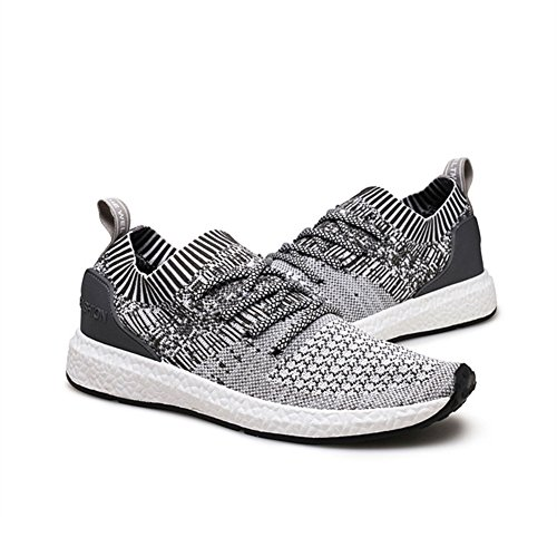 Hibote Homme Chaussures de Course Running Sport Compétition Trail Entraînement Basket Sneakers Outdoor Running Sports Fitness Gym Shoes
