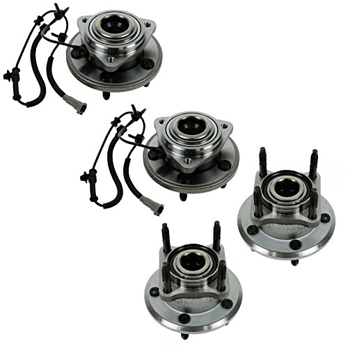 Wheel Bearing & Hub Assembly Front Rear LH RH Set of 4 for Jeep Grand Cherokee Commander (Set Jeep Commander)