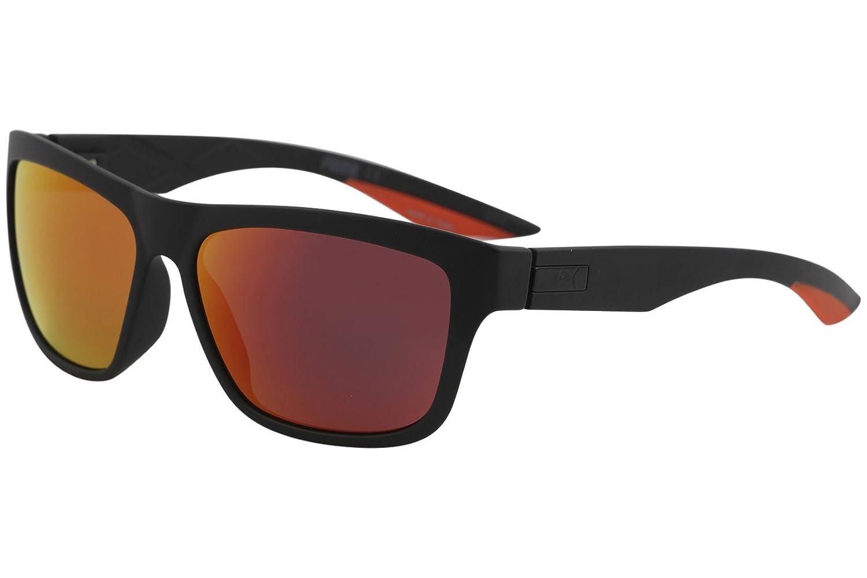 Puma PU0060S 004 Gafas de Sol, Negro (Black/Red), 58 para ...