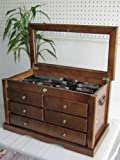 Collector's Choice Knife Display Case Cabinet, Tool Storage cabinet, Solid Wood, Gallery Quality (Walnut Finish)