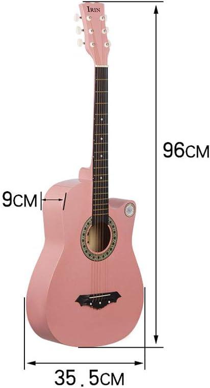 EASON Guitarra acústica Banda Sonora de 38 Pulgadas Haya clásica ...