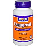 Now Foods Fenugreek 500mg, 100 caps ( Multi-Pack)