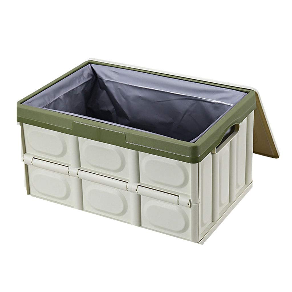 Green Large Foldable Car Trunk Storage Box Nordic Style PP Polypropylene Material Household Storage Box Makes Your Amazing Space Saving (color   Black, Size   L)