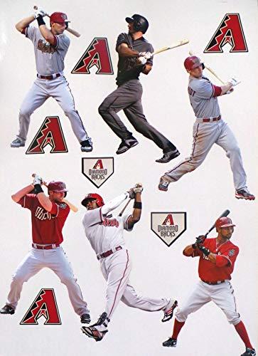 FATHEAD Arizona Diamondbacks Mini Graphics, 6 Players + 6 Diamondbacks Logo Official MLB Vinyl Wall Graphics 7