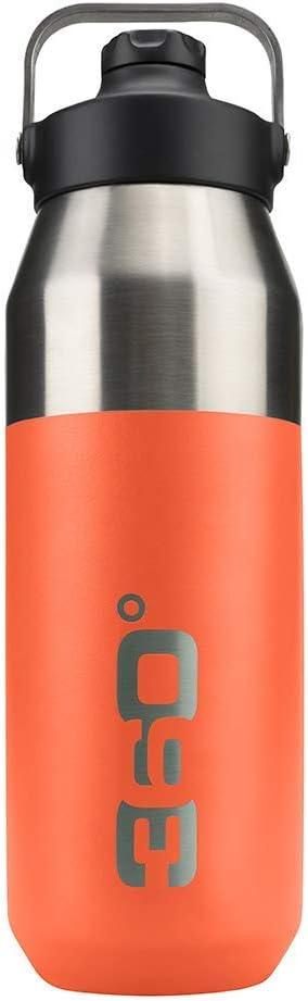 360 DEGREES Bidón Aislado Ancha+ Boca Estrecha con tapón magnético Botella, Adultos Unisex, Calabaza, Talla Única