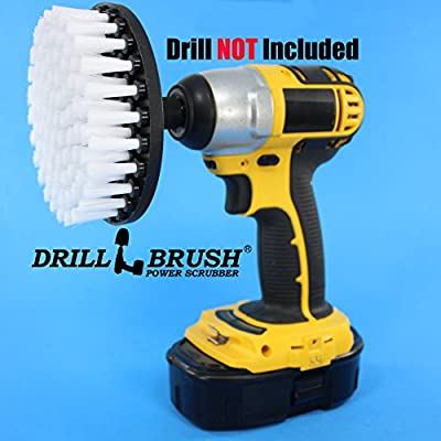 "Softer Bristle Scrub Brush 5"" Round with Power Drill Attachment"
