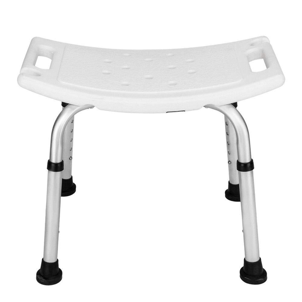 Adjustable Medical Bath Shower Chair Bathtub Bench Stool Seat Heavy Duty White