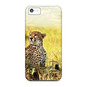 Premium Cheetah Savana Africa Heavy-duty Protection Case For Iphone 5c