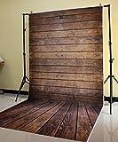 FiVan 5x10ft Brown Wood Floor Photography Background FF-044
