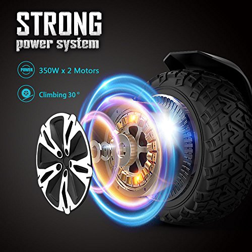 Gyroor Warrior 8.5 inch All Terrain Off Road Hoverboard with Bluetooth Speakers and LED Lights, UL2272 Certified Self Balancing Scooter 2018(Black) by Gyroor (Image #5)