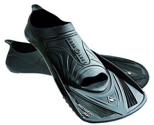 Aqua Sphere Micro HP - Aletas de entrenamiento para natación, color azul, talla Size 38 - 39 Negro