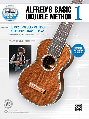 Alfred's Basic Ukulele Method 1: The Most Popular Method for Learning How to Play, Book & Online Audio (Alfred's Basic Ukulele Library)