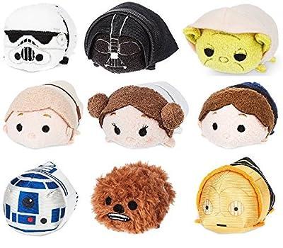 Disney Store Star Wars Classic Mini Tsum Tsum Set of 9 3.5 Plush Toys