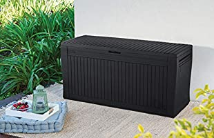 Superb Keter Comfy 71 Gallon Resin Outdoor Storage Deck Box Grey Pabps2019 Chair Design Images Pabps2019Com