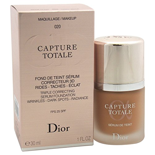 Christian Dior Capture Total Triple Correcting Serum SPF 25 Foundation, No. 020 Light Beige, 1 Ounce