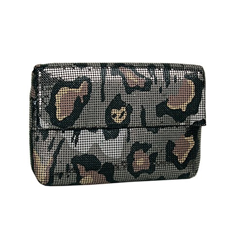 Whiting & Davis Dark Gatopardo Clutch,Multi,One Size by Whiting & Davis