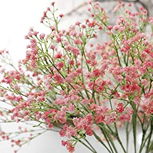 ProPhotoConnect 10x Artificial Pink Baby's Breath Gypsophila Flower Wedding Home Office Decor 41