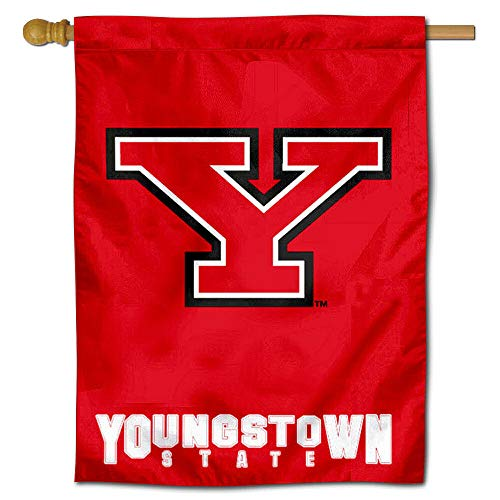 College Flags and Banners Co. Youngstown State YSU Penguins House Flag ()