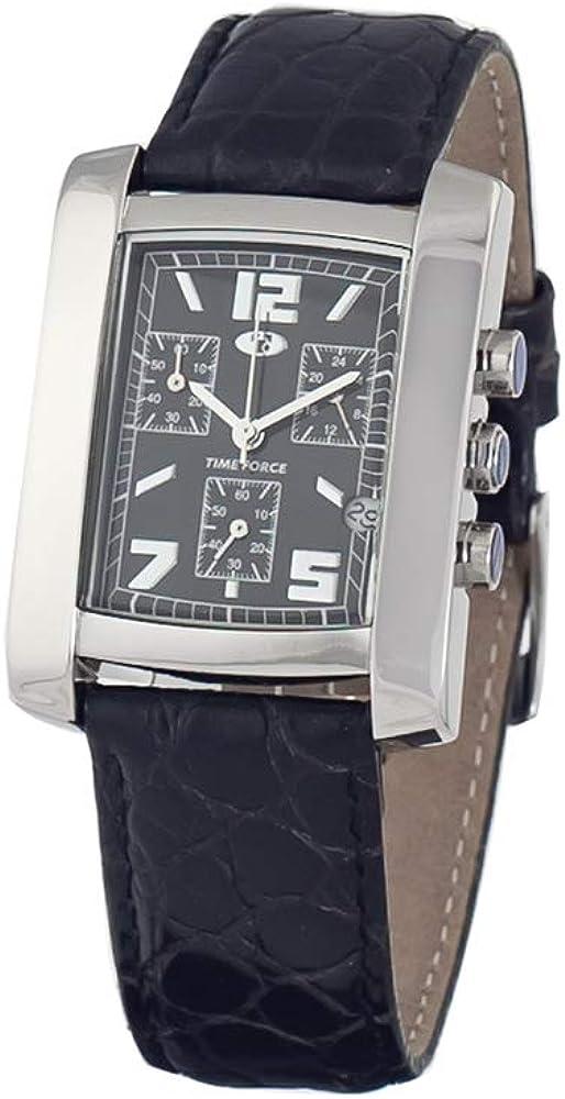 TIME FORCE Reloj Cronógrafo para Unisex Adultos de Cuarzo con Correa en Acero Inoxidable TF2633M-02-1