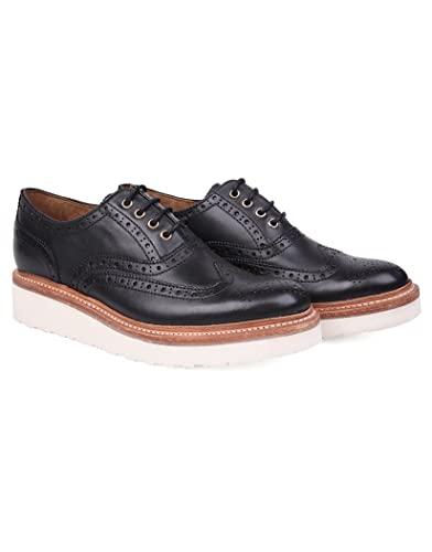 85f3c87ac902 Grenson Ladies  Emily Platform Brogue - Black  Amazon.co.uk  Shoes   Bags