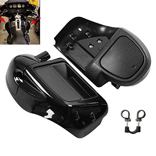XFMT Motorcycles Vivid Black Lower Vented Leg Fairing Compatible with Harley Touring Road King, Street Glide, org equipment on FLHTCU ()