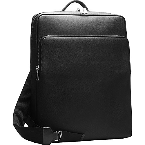 Tanners Avenue Saffiano Leather Backpack (Black)