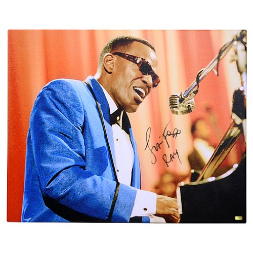 (Jamie Foxx Autographed 16x20 Ray Canvas Gallery Edition)