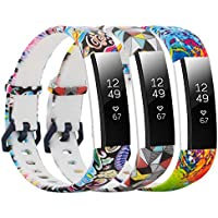 honecumi Floral Replacement Wrist Strap Compatible with Fitbit Alta/Alta HR Pattern Watch Bands Exchange Accessory for Men Women Adjustable Fitbit Alta HR Band with Metal Clasp-One
