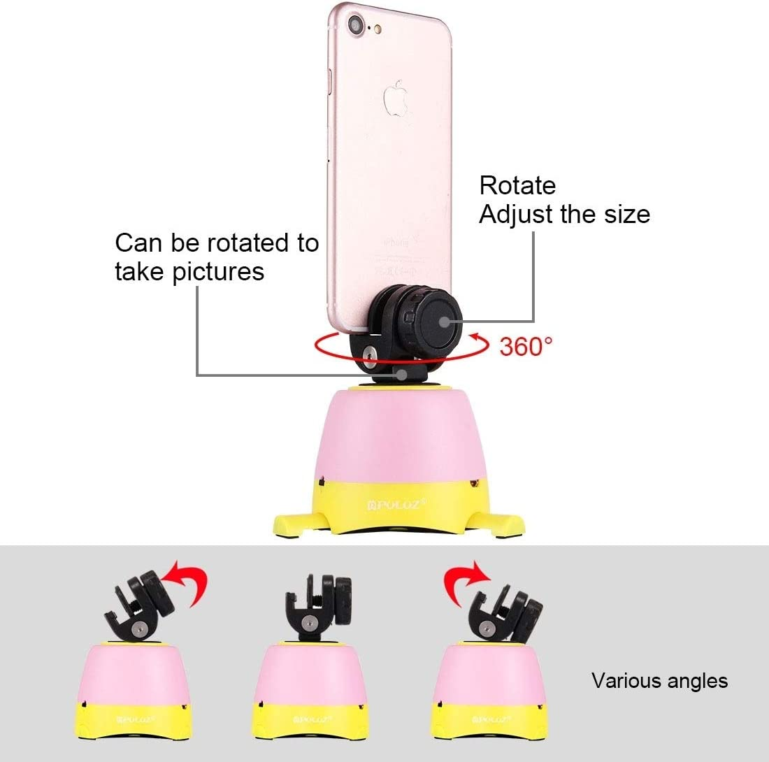 GoPro Camera Accessories Electronic 360 Degree Rotation Panoramic Head with Remote Controller for Smartphones Yellow Color : Red DSLR Cameras