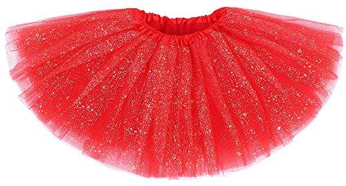 Girl's Princess Layered Soft Tulle Tutu Skirt Dance
