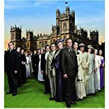 Downton Abbey Maggie Smith as Violet Crawley, Dowager Countess of Grantham with Cast Blue Skies 8 x 10 Inch Photo