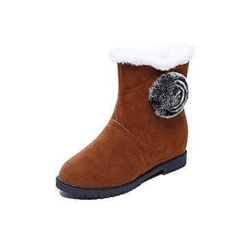 Botas para mujer, botas de nieve impermeables y cálidas para el invierno, para damas