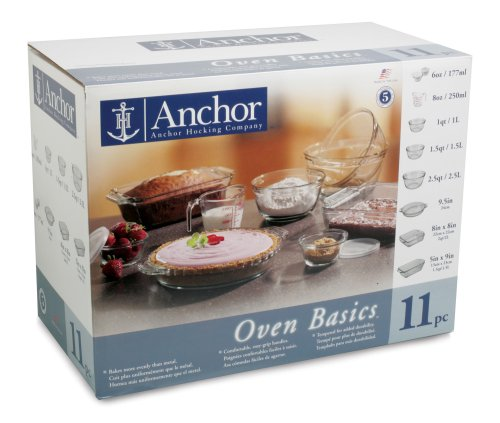 Anchor Hocking Oven Basics 11-Piece Bake Set