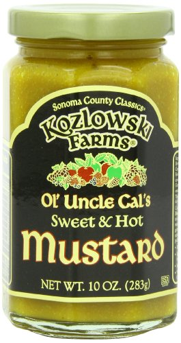 Kozlowski Farms Ol' Uncle Cal's Mustard, 10-Ounce (Pack of 6)