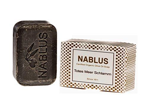 Nablus Soap Natürliche Olivenölseife Totes Meer Schlamm Dead Sea Mud, handgemacht, hypoallergen 100g