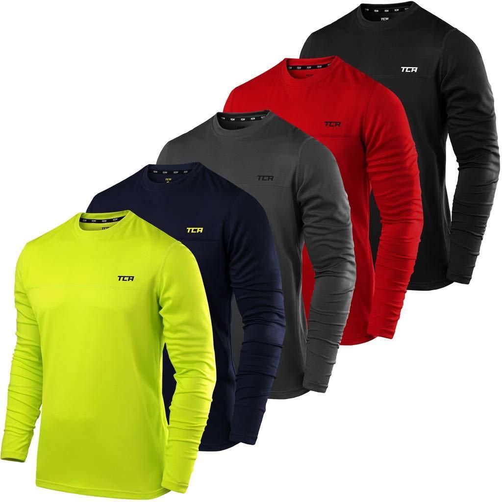 Camiseta de cuello redondo para hombre de TCA camiseta de deporte