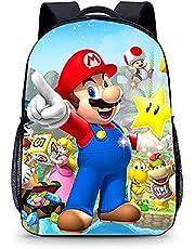 Mario rugzak voor kinderen, Super Mario schoolrugzak, schoolrugzak voor tieners, Mario schooltas, dagrugzak voor kinderen, schooltassen, kinderen, cadeau (40 x 30 x 15)