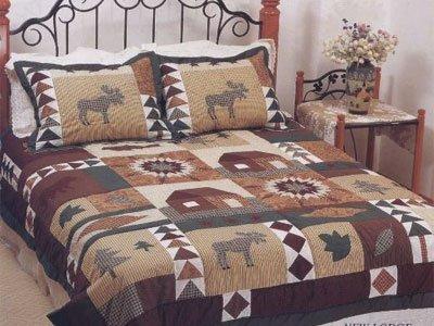 Amazon.com: MOOSE Bear QUILT comforter KING size bedding sz ... : moose quilt - Adamdwight.com