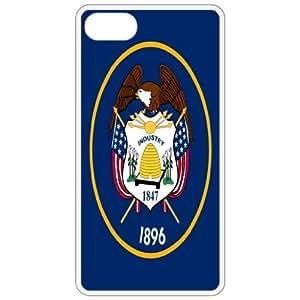 Utah UT State Flag White - Apple Iphone 5 Cell Phone Case - Cover