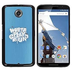 LECELL -- Funda protectora / Cubierta / Piel For Motorola NEXUS 6 / X / Moto X Pro -- White Playground --