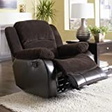 Cheap Johanna Chocolate Corduroy Rocker Recliner by Coaster