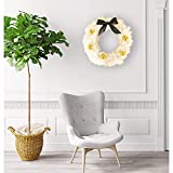 Christmas Double-Sided Door Wreath Extra Large, Elevin(TM) 60cm Christmas Double-Sided White Garland Home Hotel Bar KTV Decorative Pendant