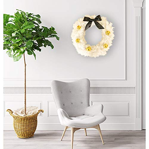 Christmas Double-Sided Door Wreath Extra Large, Elevin(TM) 60cm Christmas Double-Sided White Garland Home Hotel Bar KTV Decorative Pendant by Elevin(TM) _ Home Decor & Kitchen