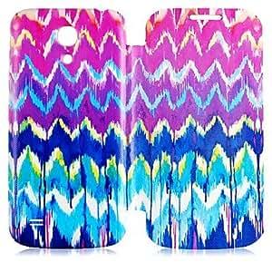 JOE Colorful Line Pattern Full Body Case for Samsung Galaxy S4 Mini I9190
