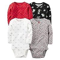 Carter's Baby Girls Multi-Pk Bodysuits 126g458, Assorted, 3M