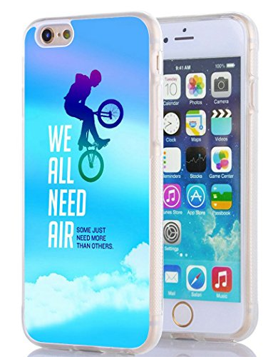 (iPhone 6 Case,SSOIU [Clear TPU Bumper] Bmx Cycling Monster Red bull Energy Power Jump Street Case for iPhone 6S )