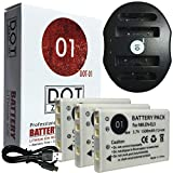 DOT-01 3X Brand 1500 mAh Replacement Nikon EN-EL5 Batteries and Dual Slot USB Charger for Nikon P520 Digital Camera and Nikon ENEL5