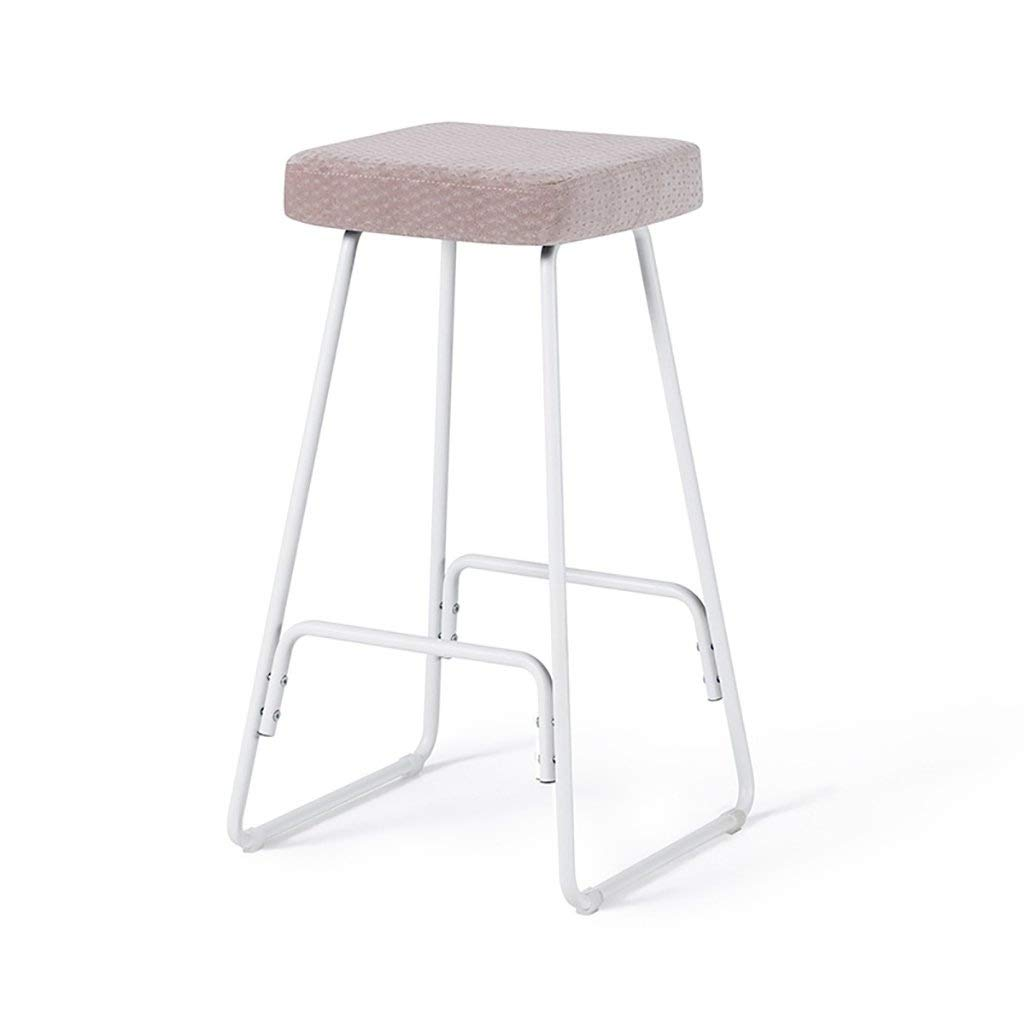 F European Chair Bar Stool Creative Wrought Iron Bar Stool Modern Minimalist Wooden Beautiful and Practical GMING (color   E)