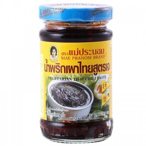 [Vegetarian Thai Chili Paste, spicy sauce 114 g./ 4 oz.] (Kikkoman Sauce Costume)